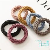 【Hera赫拉】提花純色毛巾無縫髮圈(隨機色4入)