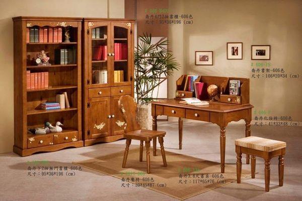 8號店鋪  全實木鄉村風係列 3.8尺書桌組 訂製傢俱~客製化全實木傢俱~~實體店面~工廠直營