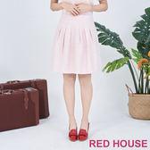 RED HOUSE-蕾赫斯-毛呢打摺裙(共2色)