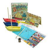 【荷蘭Authentic Models】親子DIY模型小船3入組(兒童玩具/ 11x12.5x4cm)