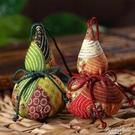 葫蘆香囊diy材料包立早刺繡隨身荷袋端午節驅蚊古風手工香包 果果輕時尚
