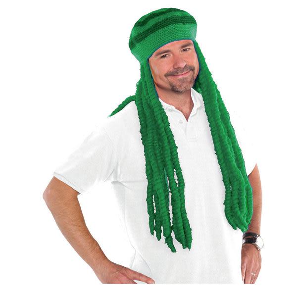 雷鬼假髮1入-森林綠