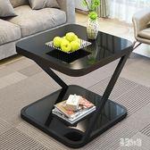茶几北歐迷你角幾簡約現代創意鋼化玻璃小茶幾臥室小方桌zzy4559『易購3c館』