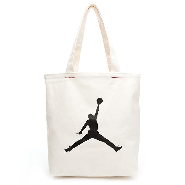 NIKE JORDAN 托特包 側背包 手提袋 帆布袋 喬丹 文青帆布袋 購物袋 JD2113017AD 【樂買網】