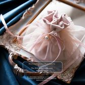 禮袋婚禮喜糖盒結婚抖音新款韓式創意禮盒寶寶滿月絲絨回禮袋子伴手禮-凡屋