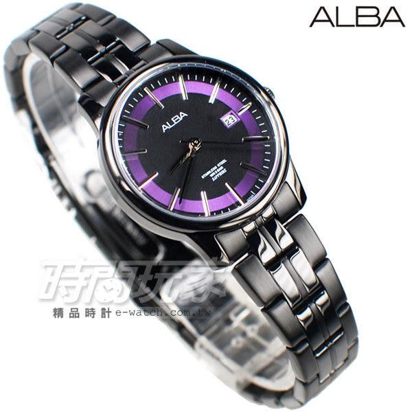 ALBA雅柏錶 七夕情人節限定 台灣獨賣 限定200只 日期顯示窗 IP黑電鍍 女錶 AH7N69X1 VJ22-X259SD