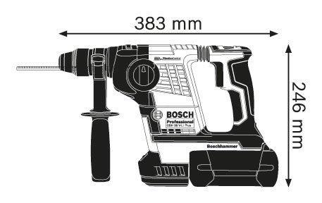 【台北益昌】雙4.0電池 BOSCH 博世 GBH 36V-Li plus 36V 鋰電鎚鑽 四溝免出力
