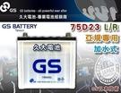 【久大電池】 GS 統力 汽車電瓶 加水式 75D23L 55D23L 適用 汽車電池