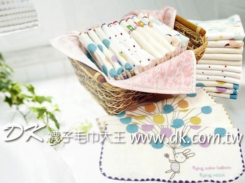 SG468K 雙星 氣球小兔紗布小方巾 手帕 ~DK襪子毛巾大王