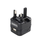 [富廉網] SAMPO 聲寶 EP-UB0BU1-B USB萬國充電器轉接頭-黑色(威勁)