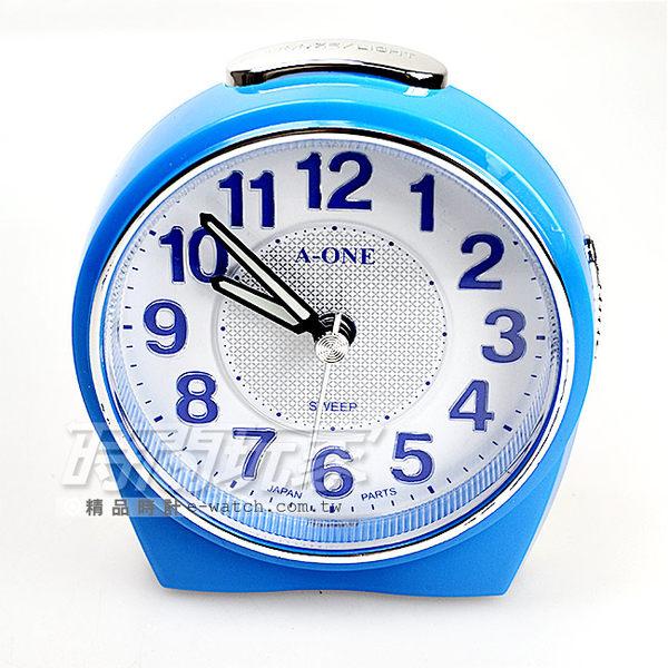 A-ONE金吉星 台灣製造超靜音貪睡鬧鐘鬧鈴 3D立體字 LED彩燈 TG-0172藍