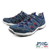【IMAC】義大利綁帶造型氣墊牛皮慢跑鞋  深藍(70731-DBU)