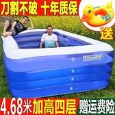 兒童充氣游泳池加厚超大號嬰兒寶寶家用折疊游泳桶成人小孩戲水池