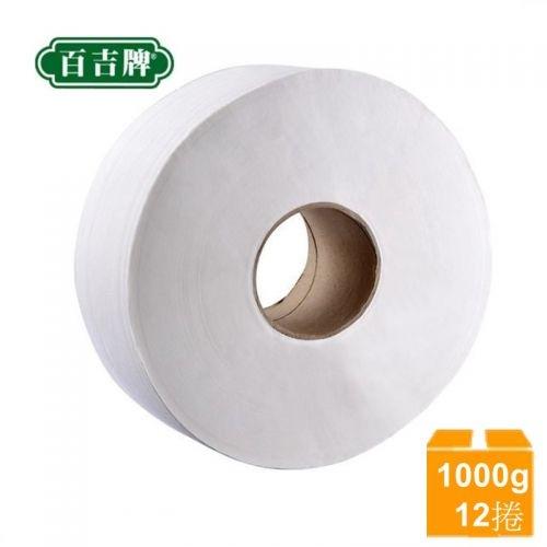 【南紡購物中心】百吉牌 大捲筒衛生紙(1000gx12捲/箱)