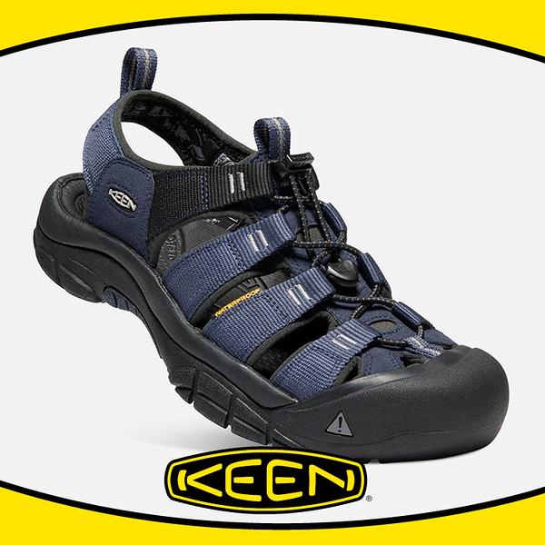 【KEEN 美國 男 護趾涼鞋《深藍/黑》】1018940/耐水洗/水陸兩用/運動涼鞋/多功能鞋/低筒鞋
