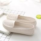 夏季女款洞洞鏤空女鞋塑料白色涼鞋防滑平底護士鞋孕婦媽媽鞋舒適 【端午節特惠】