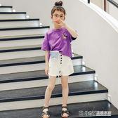 女童T恤童裝女童短袖T恤新款夏季洋氣半袖中大童韓版體恤兒童夏裝女 溫暖享家