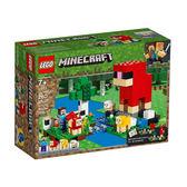 【LEGO 樂高 積木】LT-21153 Minecraft 創世神 The Wool Farm(260pcs)
