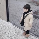 兒童外套 男女寶寶冬裝羽絨棉衣新款中長款外套兒童裝男童小童棉服韓版