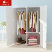 單人衣櫃簡易經濟型簡約現代實木紋推拉門櫃子  露露日記