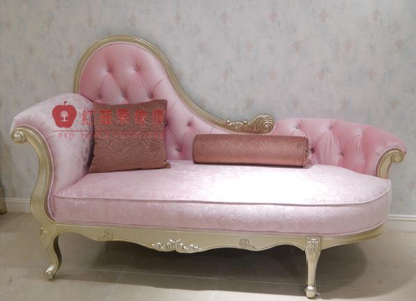 [紅蘋果傢俱] 新古典系列 頂級進口 歐式 皇室 貴妃椅 法式躺椅 新古典 沙發椅 邊椅