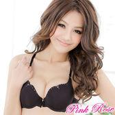 內衣 印度公主.前扣極致渾圓美胸A-C罩杯(黑) 粉紅薔薇