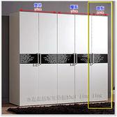 【水晶晶家具/傢俱首選】波爾卡40cm低甲醇烤白隔板衣櫃(右) JM8126-4