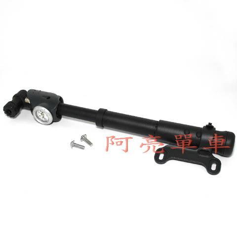 *阿亮單車*GIYO攜帶型,100psi,長度19.6cm附指針胎壓表,塑膠材質兩截伸縮筒身GP-83《C74-P83》