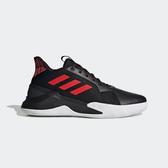 Adidas Runthegame [EF1022] 男鞋 運動 休閒 籃球 路跑 緩震 舒適 包覆 皮革 愛迪達 黑紅