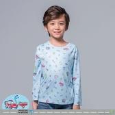 【WIWI】汽車麥坤溫灸刷毛圓領發熱衣(水漾藍 童100-150)