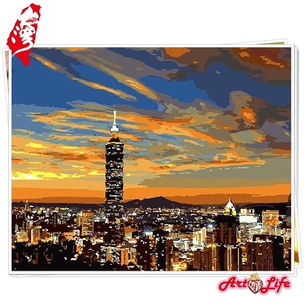 【TW001】台灣風情誌-台北101_DIY 數字 油畫 彩繪