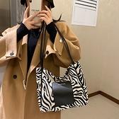 流行斑馬紋大包包秋冬包新款潮時尚網紅大容量 【母親節特惠】