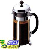 [106 美國直購] Bodum 1924-16US4 Chambord 4 Cup 法式濾壓壺 咖啡壺 French Press Coffee Maker, 17-Ounce