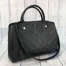 BRAND楓月 LOUIS VUITTON LV M41048 黑色 原花 皮革 MONTAIGNE MM 肩背 手提包