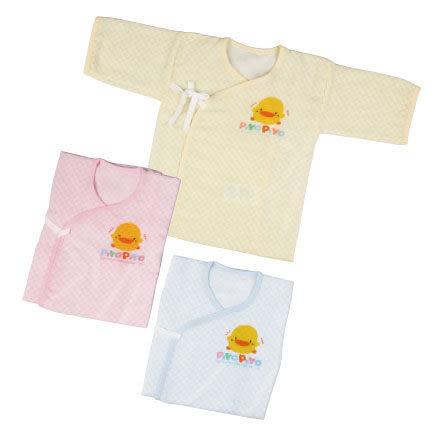 『121婦嬰用品館』Piyo 黃色小鴨 紗布方格印花肚衣-黃