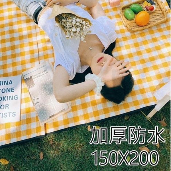 漂亮小媽咪 防水 防潮 加厚 野餐墊 【BW1520】 150X200 防潮墊 野餐布 不沾草 寶寶 遊戲墊 []