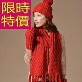 圍巾+毛帽+手套羊毛三件套-經典款獨特韓版保暖女配件5色63n23[巴黎精品]
