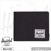 Herschel 皮夾 黑色 可放零錢款短夾 Roy PL-001 MyBag得意時袋