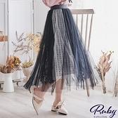 裙子 蕾絲花朵鬆緊紗裙長裙-Ruby s 露比午茶