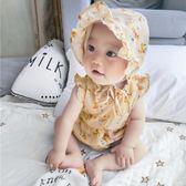 嬰兒連體衣服女寶寶開檔爬服新生兒純棉夏