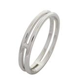 HERMES 愛馬仕 Ariane系列H字型素圈白金戒指 #59 【二手名牌BRAND OFF】