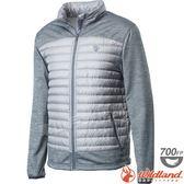 Wildland 荒野 0A62992-23銀灰色 男彈性針織拼接羽絨外套 保暖雪衣羽絨服/防寒禦寒夾克/防風羽絨衣*