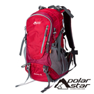 【PolarStar】透氣網架健行背包 35L『紅色』P20803 露營.戶外.旅遊.多隔間.登山背包.後背包.肩背包