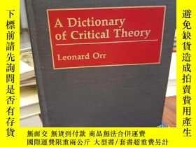 二手書博民逛書店Dictionary罕見of Critical TheoryY9
