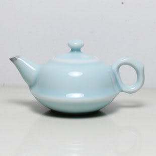 龍泉青瓷哥窯粉青茶杯茶壺禮盒