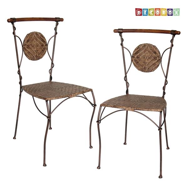 DecoBox波西米亞曲木休閒椅2張( 藤椅,休閒椅,餐椅)