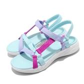Skechers 涼拖鞋 On-The-Go 600-Summer Sense 藍 紫 女鞋 童鞋 中童鞋 涼鞋 【ACS】 302117LAQUA