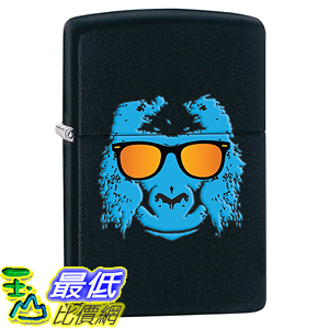 [美國直購] Zippo B00TYA1GC8 Animal Lighters Black Matte Gorilla 打火機
