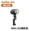 黑熊數位 Godox 神牛 ML60 LED攝影燈 60W 便攜LED 攝像燈 聚光燈 外拍燈 白光 手持 打光