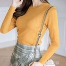 長袖針織上衣-秋季新款韓版女裝長袖打底緊身毛衣女圓領 夏沫之戀